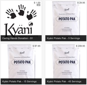 Potato Pak Servings